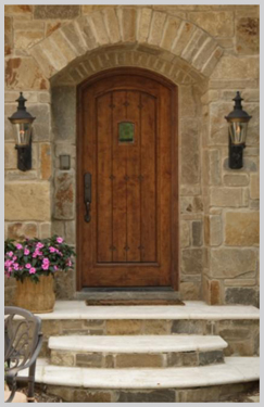 custom homes door